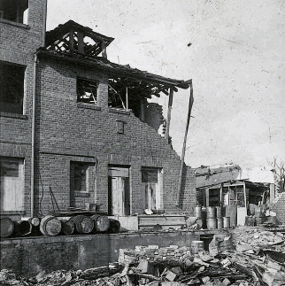 destroyed company building 1944 - destruction of the company building 1944
